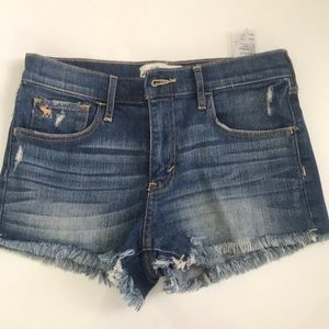 Abercrombie Jean Shorts- ripped bottom